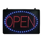 Update International LED-OPEN LED Open Sign - Hanging Chain, 21-5/8x1-5/8x13