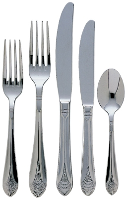 Update International MA-206 Marquis Salad Fork - 2.5mm Stainless, Mirror-Polish