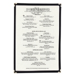"Update International MCL-1BK Single Menu Cover - 10-1/4x14"" Transparent/Black"