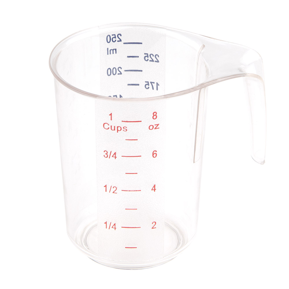 Update International MEA25PC 1-Cup Dry Measuring Cup - Polycarbonate