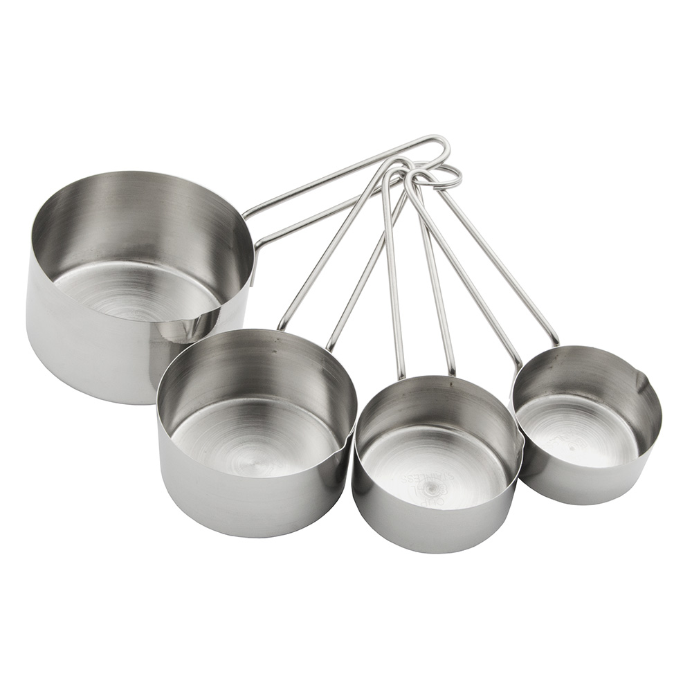 Update International MEA-CUP 4-Piece Measuring Cup Set - Stainless