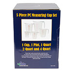 Update MEA-PC/SET 5-Piece Measuring Cup Set - Polycarbonate
