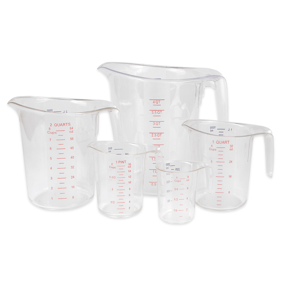 Update MEA-PC/SET 5-Piece Measuring Cup Set - Polycarbonate