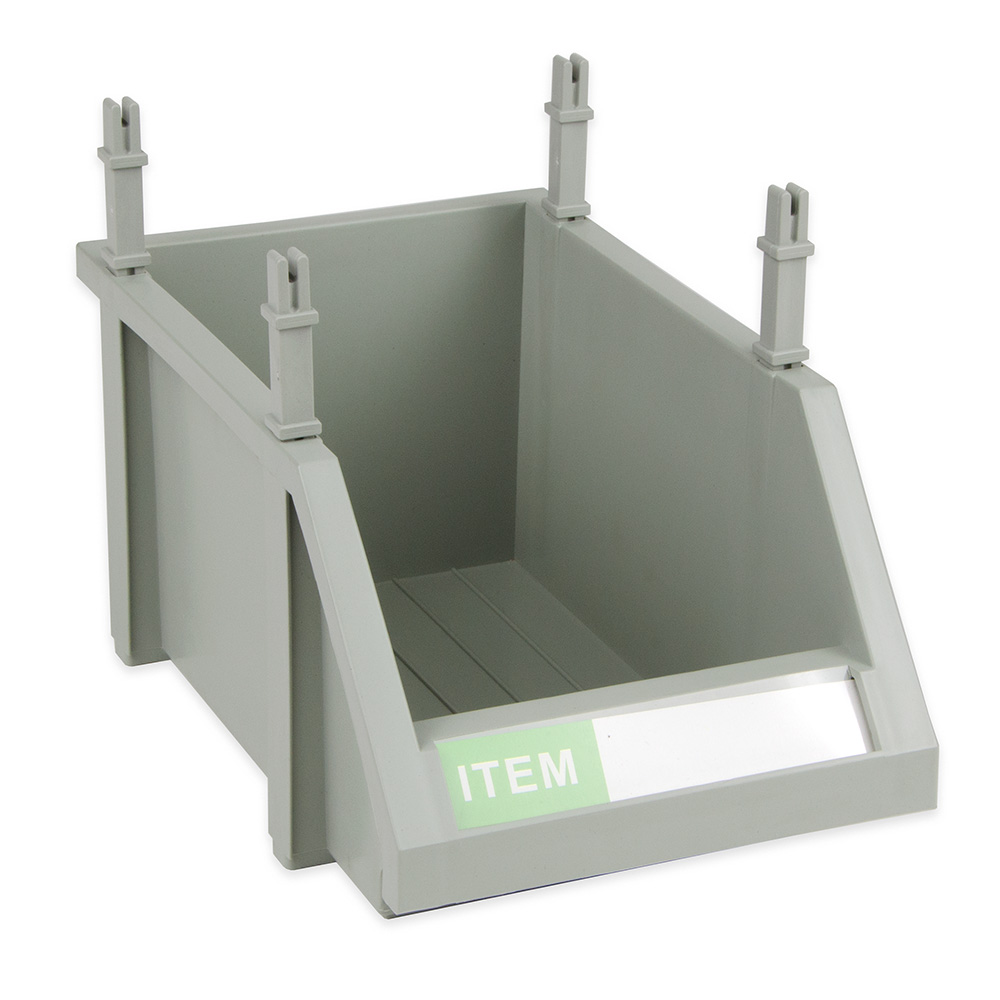 "Update MOB-106 Modular Condiment Bin - 10x6x5"" Gray"