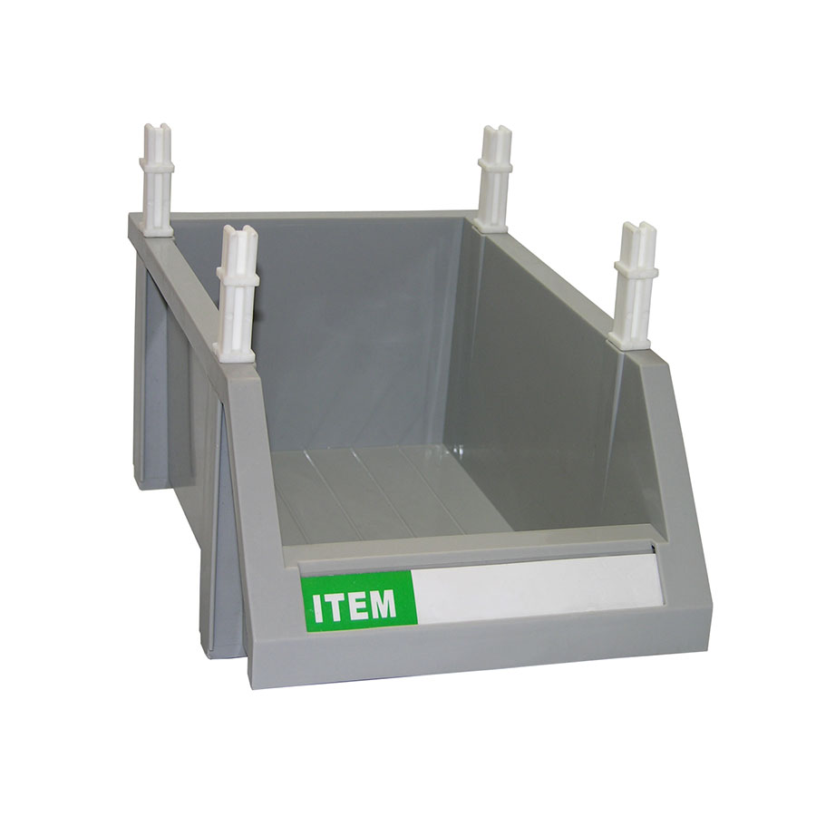 "Update MOB-127 Modular Condiment Bin - 12x7x5"" Gray"
