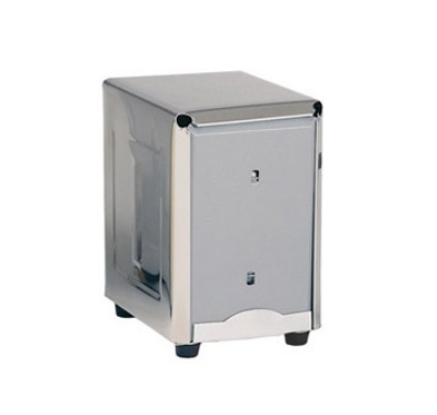 "Update International ND-5 Counter-Type Napkin Dispenser - 4-5/8x3-7/8x5-3/8"" Stainless"