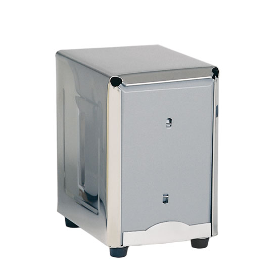 "Update ND-5 Counter-Type Napkin Dispenser - 4-5/8x3-7/8x5-3/8"" Stainless"