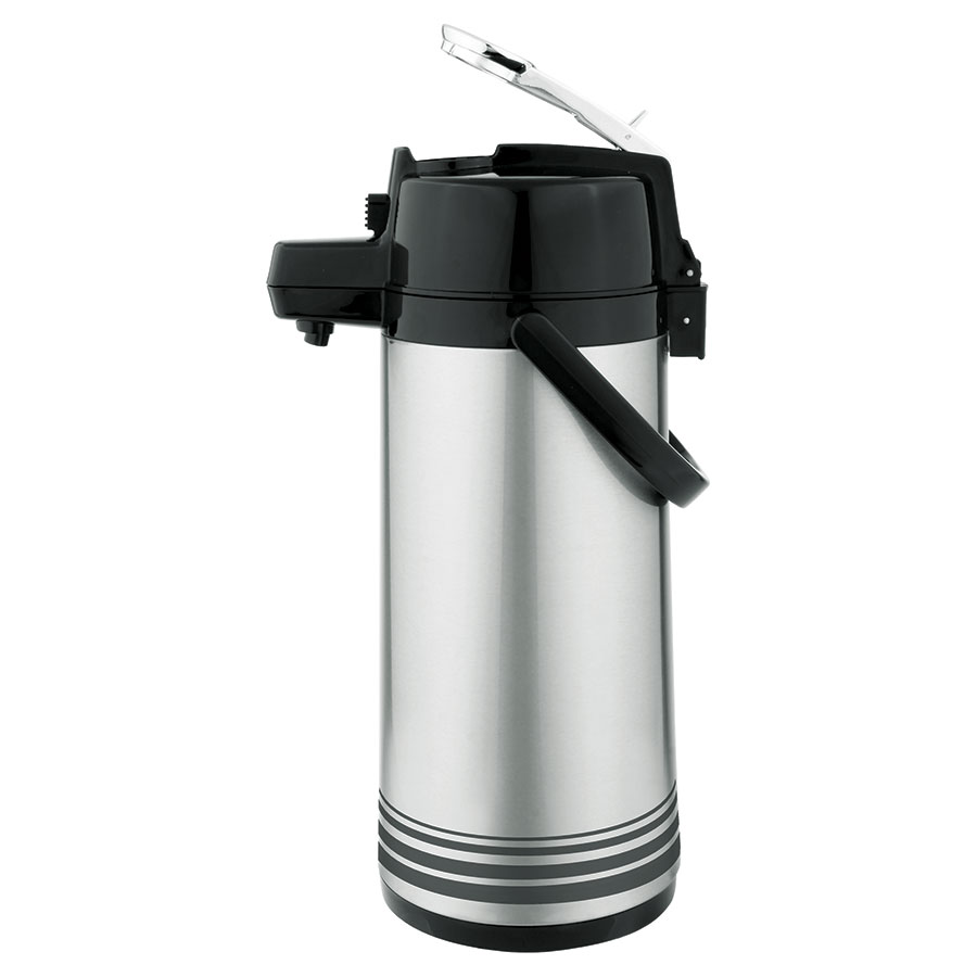 Update NLD-19-BK/SF 1.9-liter Airpot - Glass Liner, Black Lever Top, Brushed Stainless