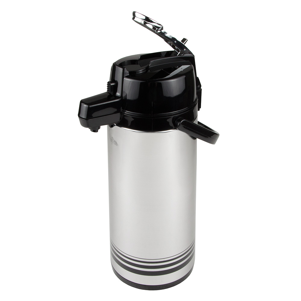Update NLD-22-BK/SF 2.2-liter Airpot - Glass Liner, Black Lever Top, Brushed Stainless
