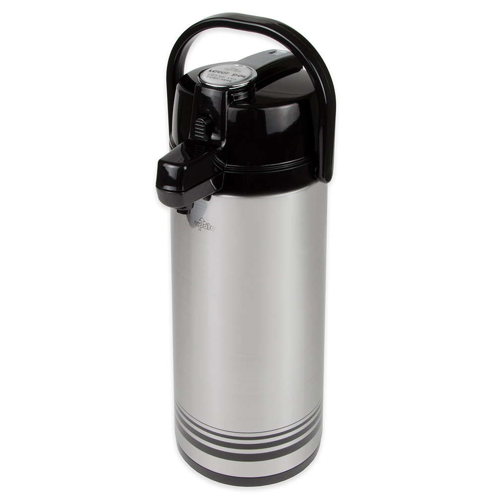 Update NLD-25-BK/SF 2.5-liter Airpot - Glass Liner, Black Lever Top, Brushed Stainless