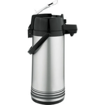 Update International NLD-19-BK/SF 1.9-liter Airpot - Glass Liner, Black Lever Top, Brushed Stainless