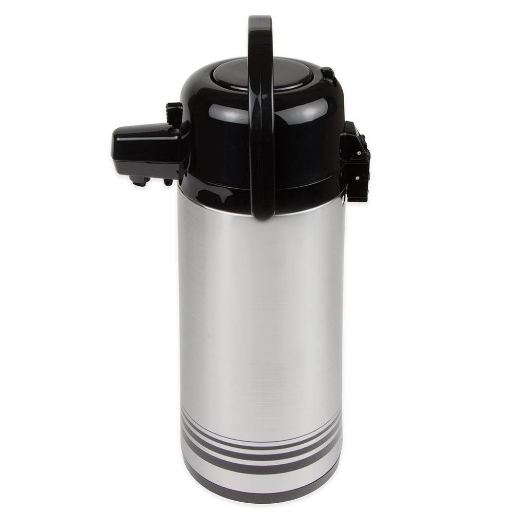 Update NPD-19-BK/SF 1.9-liter Airpot - Glass Liner, Black Push Top, Brushed Stainless