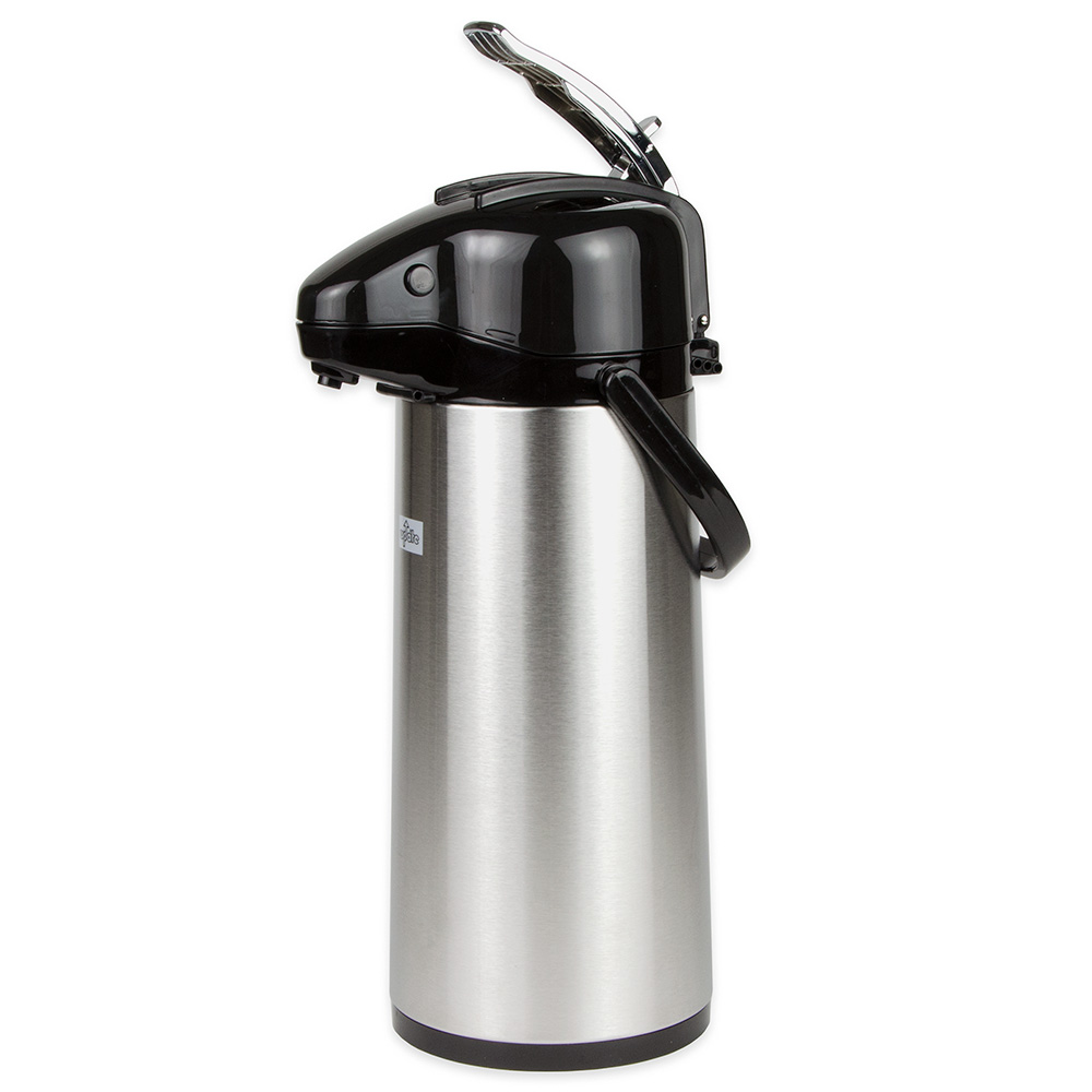 Update International NVAL-22BK 2.2-liter Val-U-Air Airpot - Glass Liner, Black Top, Stainless