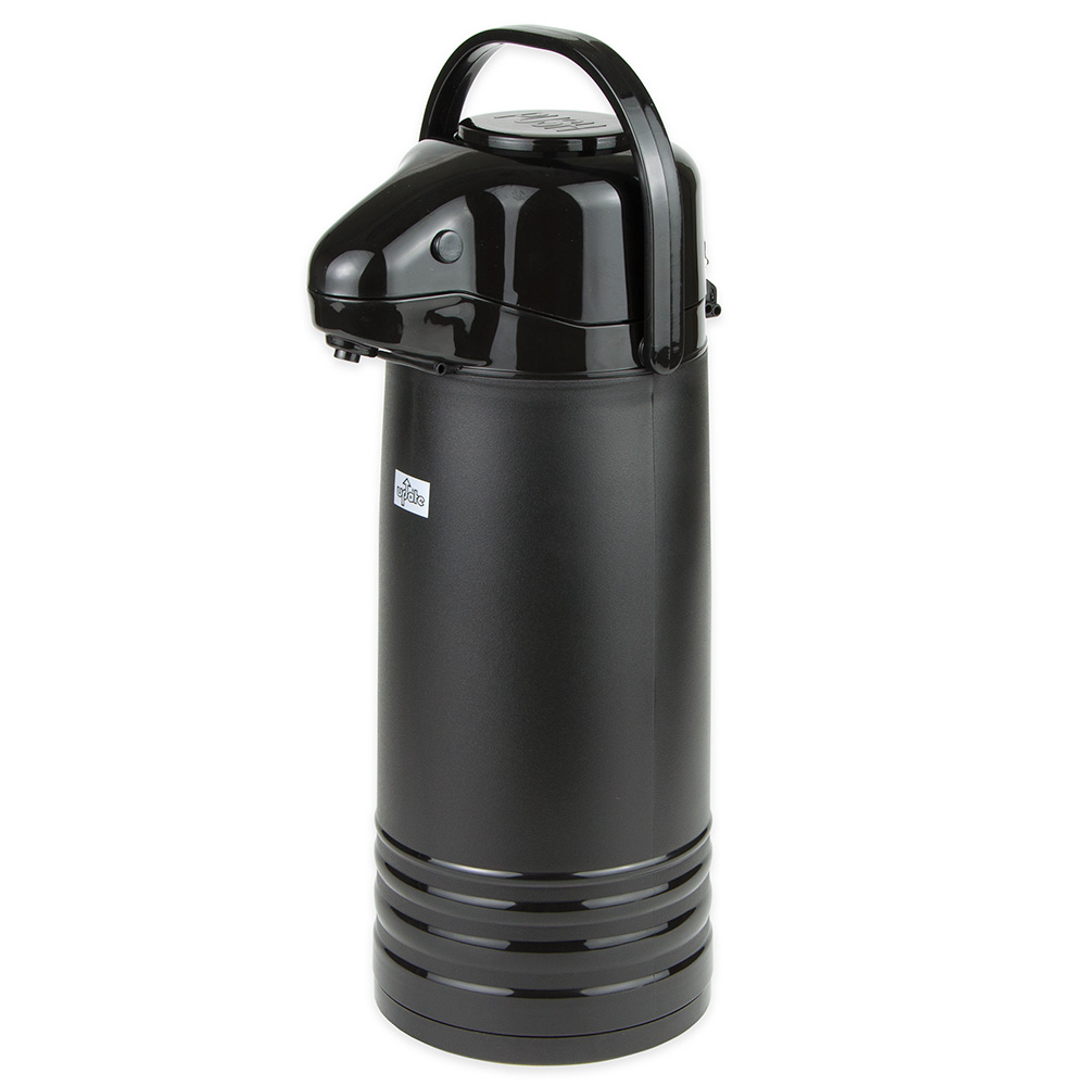 Update International NVAPB-22BK 2.2-liter Val-U-Air Airpot - Glass Liner, Black Push Top, Black