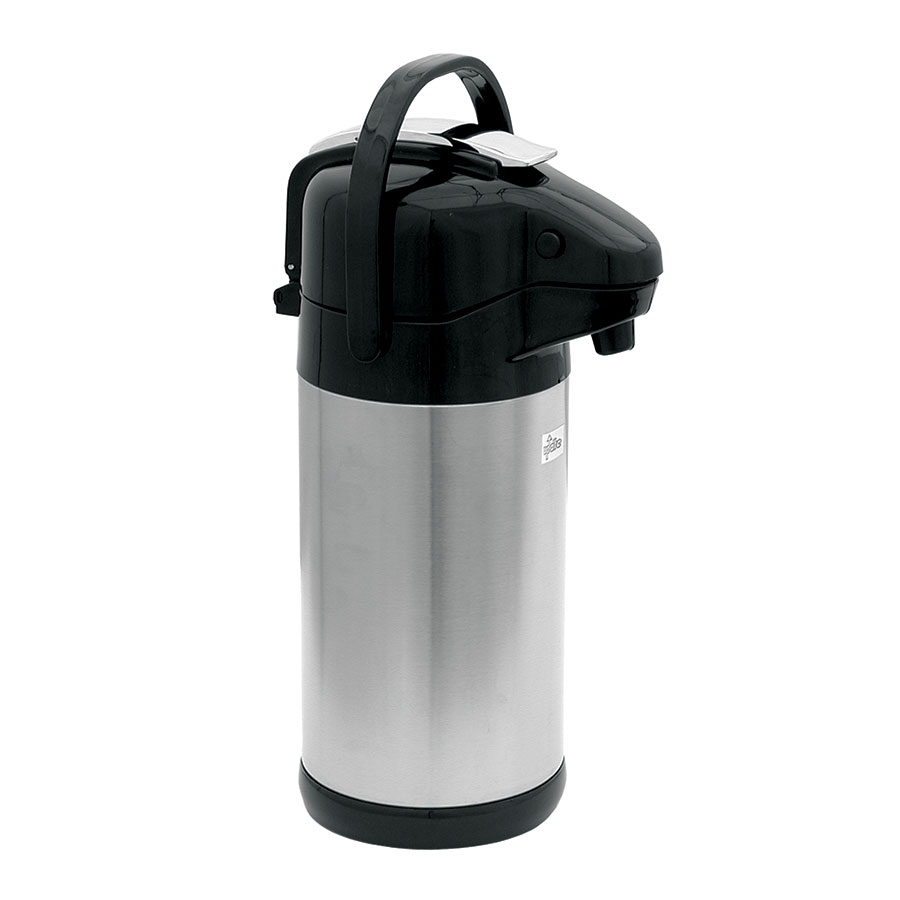 Update NVSL-25BK 2.5-liter Sup-R-Air Airpot - Stainless Liner, Black Lever Top, Stainless