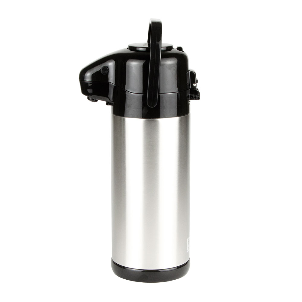 Update NVSP-30BK 3.0-liter Sup-R-Air Airpot - Stainless Liner, Black Push Top, Stainless
