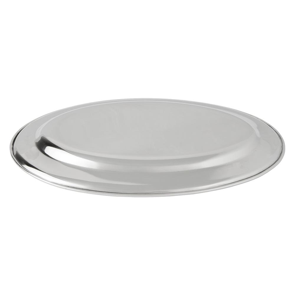 "Update OP-12 Oval Platter - 12x7-1/8"" Stainless"