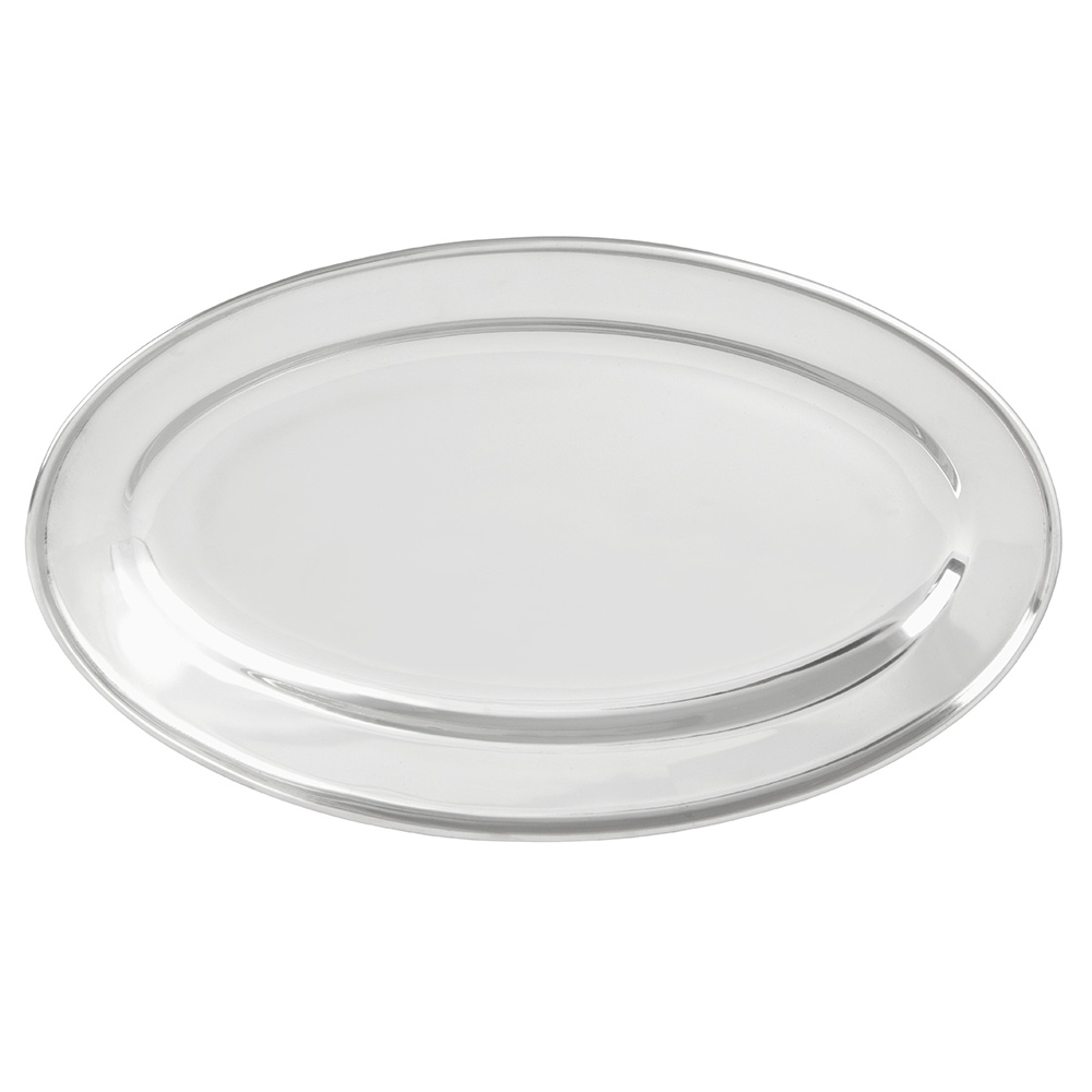 "Update OP-14 Oval Platter - 13-3/4x9-1/8"" Stainless"