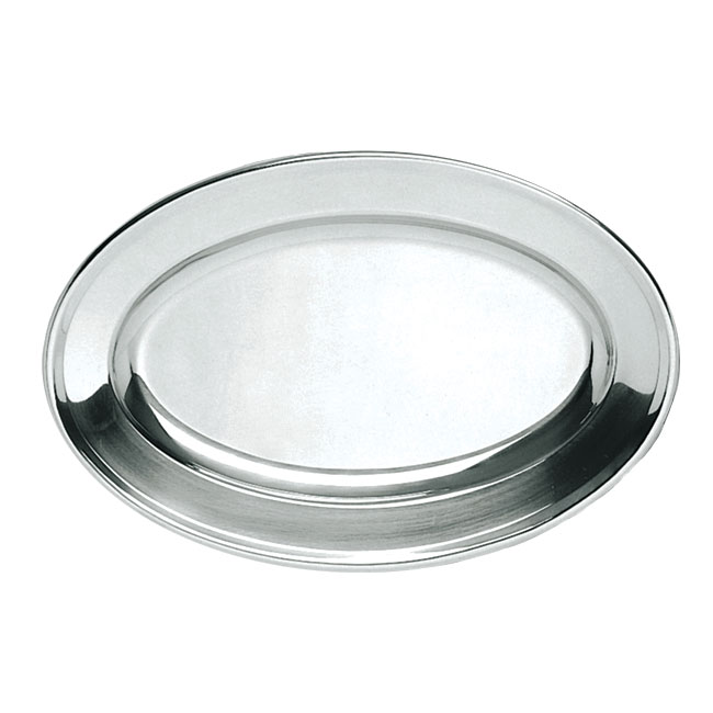 "Update OP-16 Oval Platter - 15-3/4x10-3/8"" Stainless"