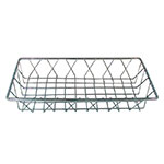 "Update PB-146 Rectangular Pastry Basket - 14x6x2"" Chrome-Plated"