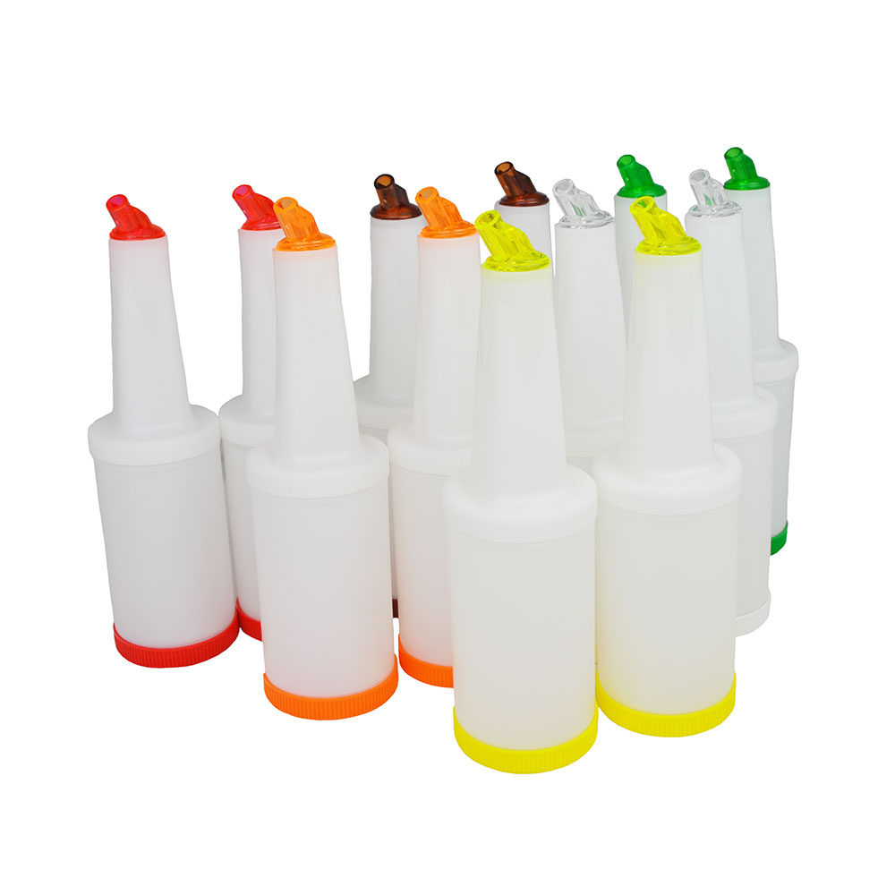 Update PBA-10 1-qt Flow-N-Store Pour Bottle - Lids/Spouts, Assorted Colors
