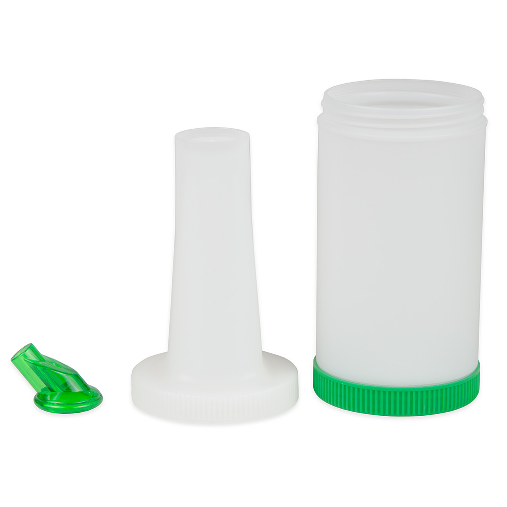 Update PBG-10 1-qt  Flow-N-Store Pour Bottle - Green Lid/Spout