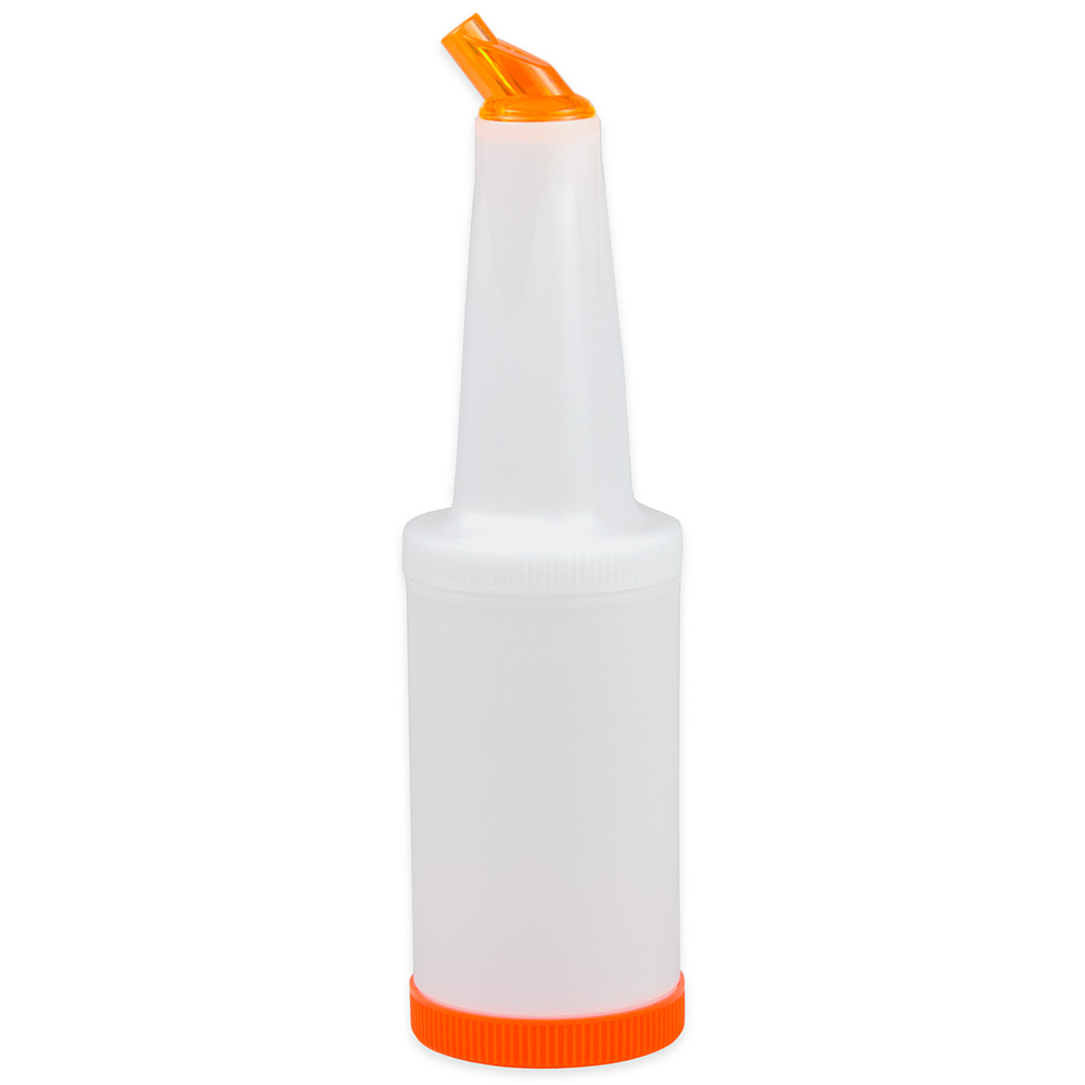 Update PBO-10 1-qt  Flow-N-Store Pour Bottle - Orange Lid/Spout