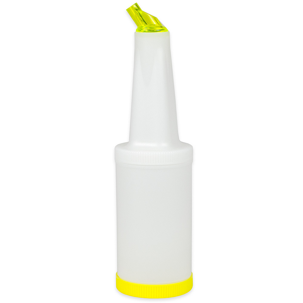 Update PBY-10 1-qt  Flow-N-Store Pour Bottle - Yellow Lid/Spout