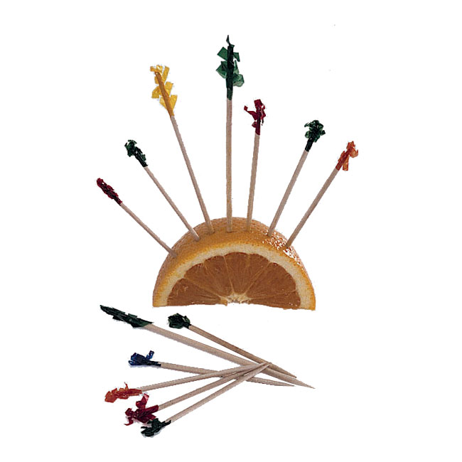 Update International PC-F102 Cellophane Frill Toothpicks - 1,000 per Box