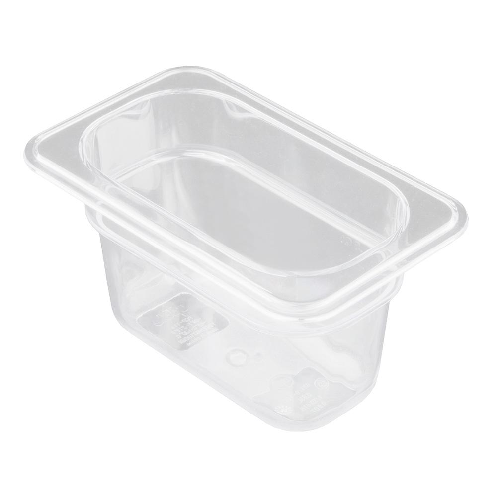 "Update PCP-114 1/9 Size Food Pan - 4"" D, Polycarbonate"