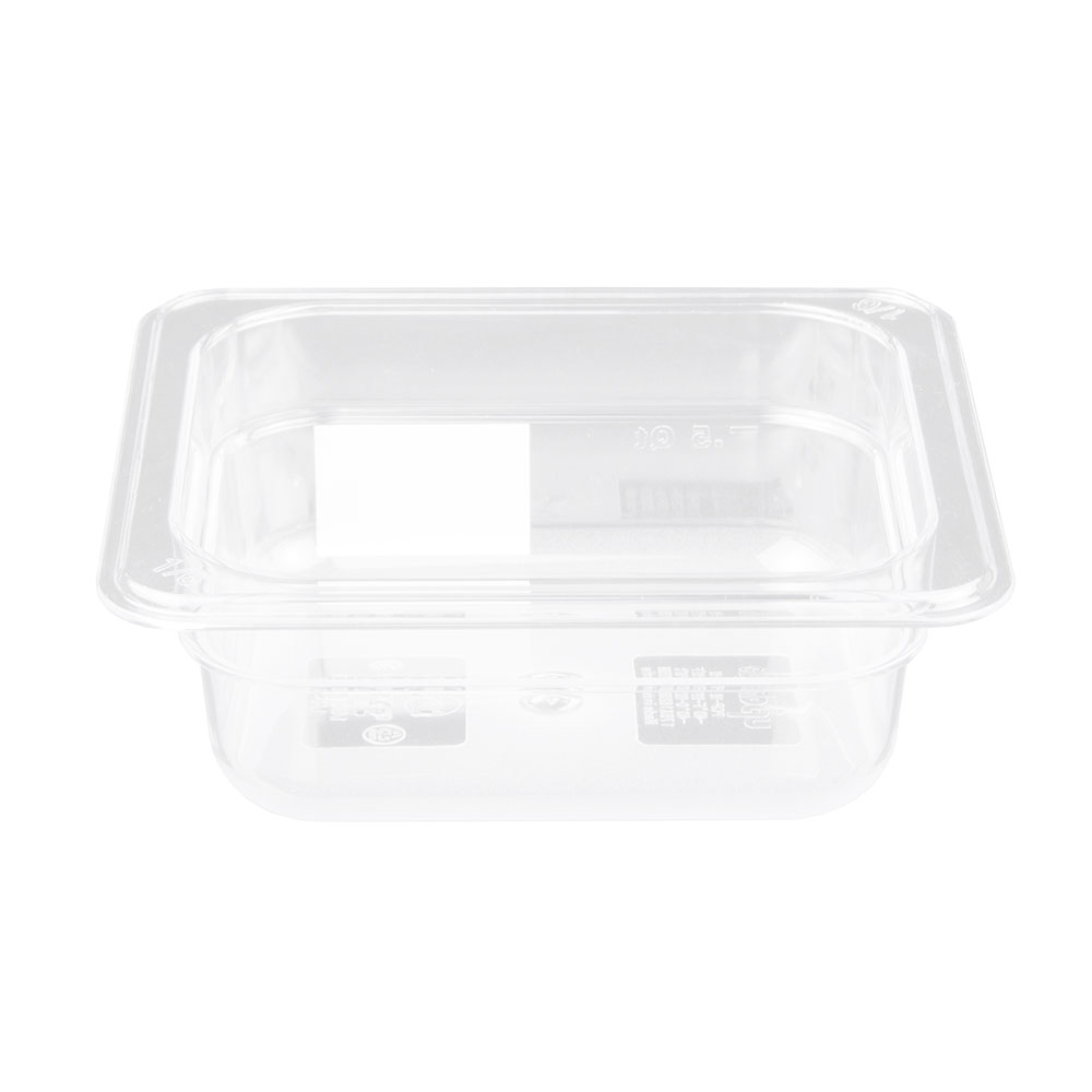"Update PCP-162 1/6 Size Food Pan - 2-1/2"" D, Polycarbonate"