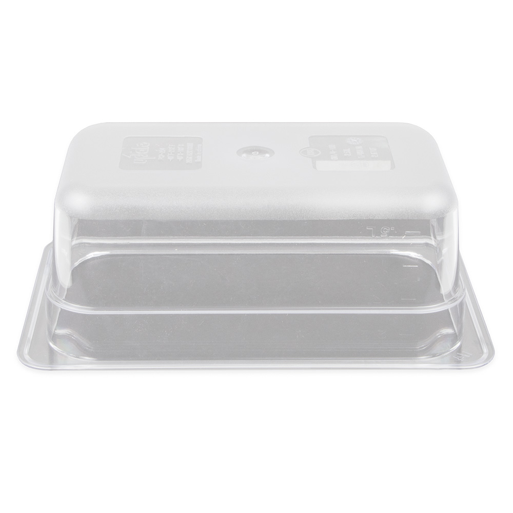 "Update PCP-254 1/4 Size Food Pan - 4"" D, Polycarbonate"