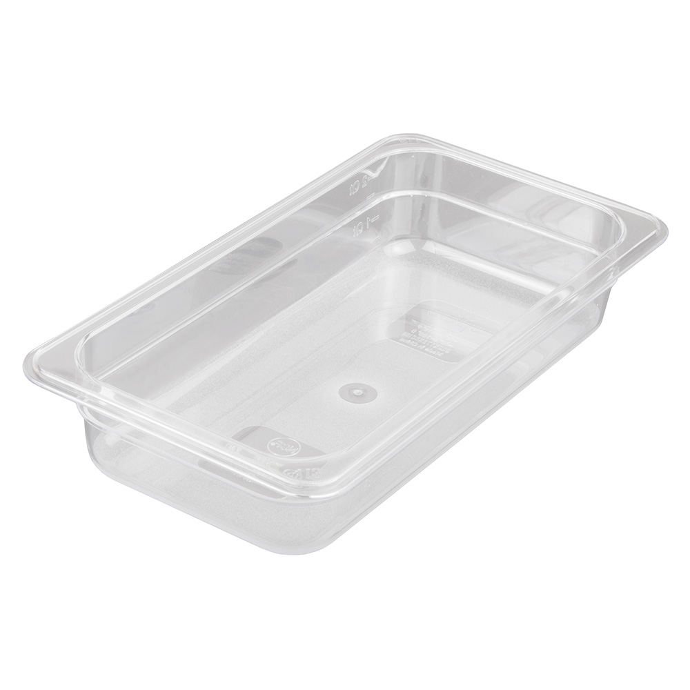 "Update PCP-332 1/3 Size Food Pan - 2-1/2"" D, Polycarbonate"