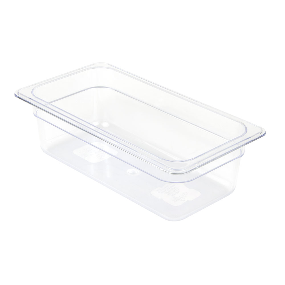 "Update PCP-334 1/3 Size Food Pan - 4"" D, Polycarbonate"