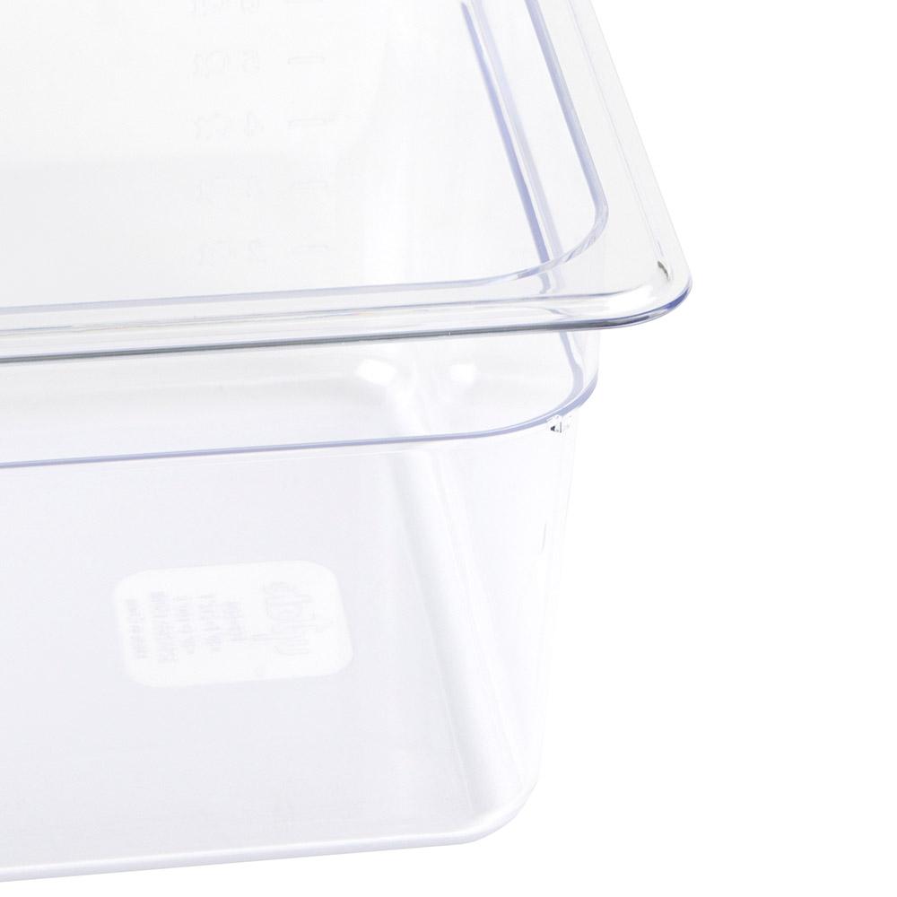 "Update PCP-506 1/2 Size Food Pan - 6"" D, Polycarbonate"