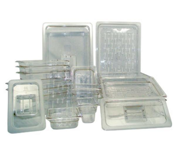 "Update International PCP-508 1/2 Size Food Pan - 8"" D, Polycarbonate"