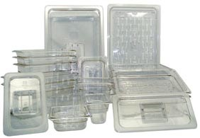 "Update PCP-1002 Full-Size Food Pan - 2-1/2"" D, Polycarbonate"