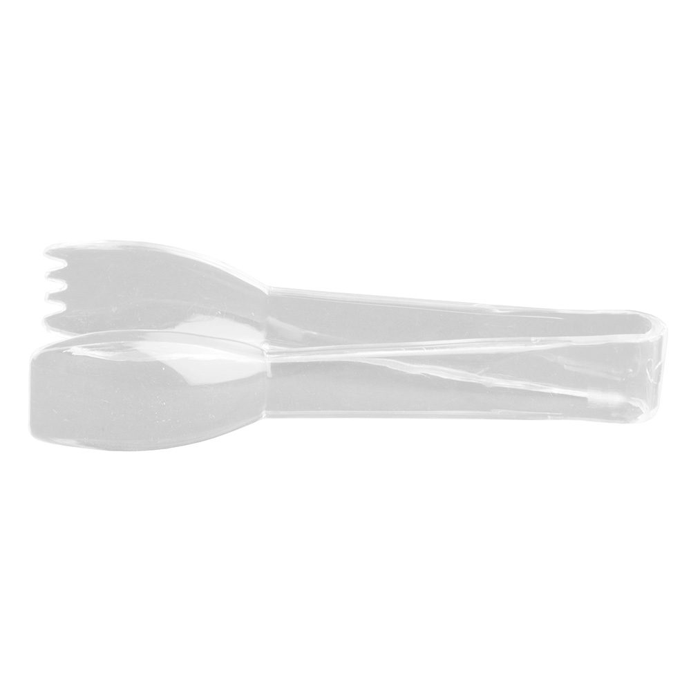 "Update PCT-6CL 6"" Scalloped Utility Tongs - Polycarbonate, Clear"