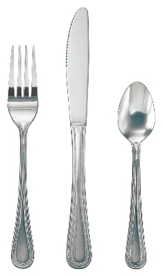 Update International PL-85 Pearl Dinner Fork - 18/0-ga Stainless, Mirror-Polish