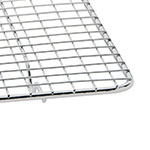 "Update PG1018 Full-Size Wire Pan Grate - 10x18"" Chrome-Plated"