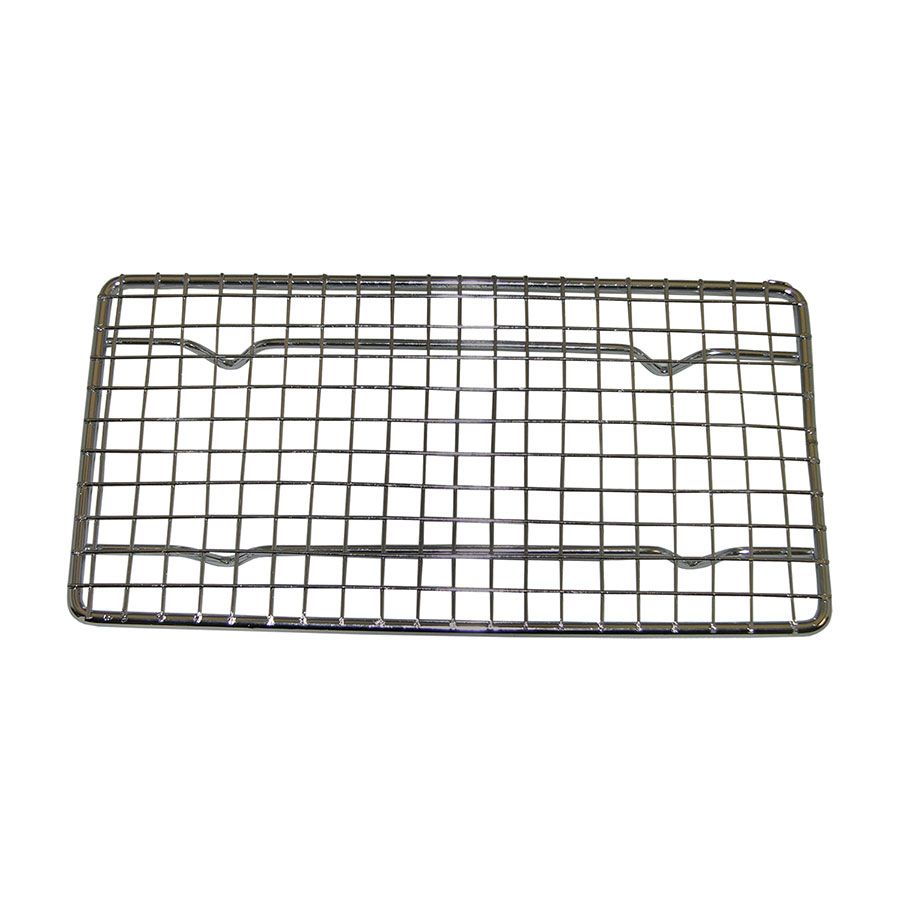 "Update International PG48 Wire Pan Grate - 4-1/4x8-1/4"" Chrome-Plated"