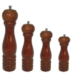 "Update International PMW-10 10"" Wooden Pepper Mill - Mahogany Finish"