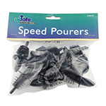 "Update POR-BK 3"" Free Flow Pourer - Black"