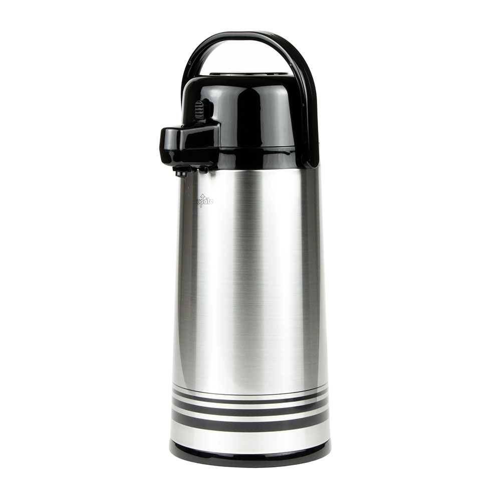 Update PSVL-25-BK/SF 2.5-liter Sup-R-Air Airpot - Stainless Liner, Black Push Top, Brushed Stainless