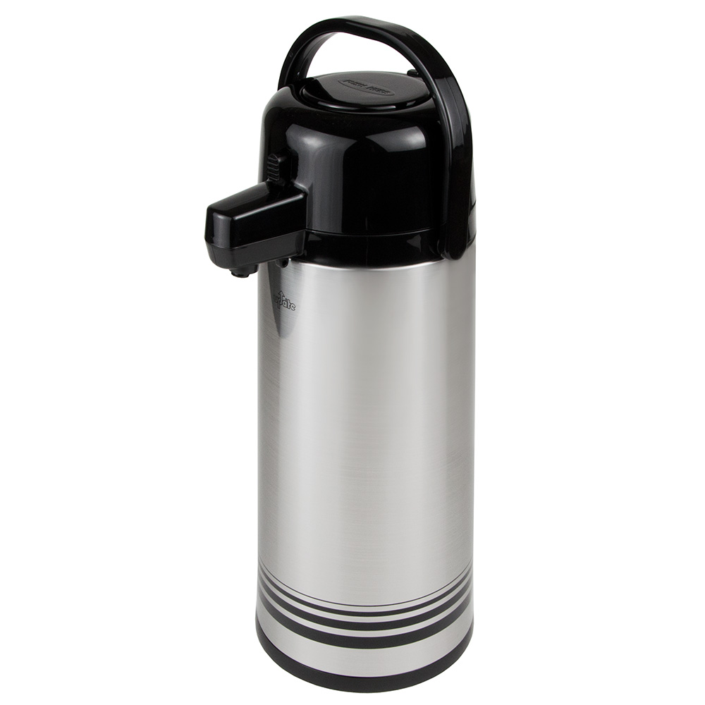 Update PSVL-30-BK/SF 3.0-liter Sup-R-Air Airpot - Stainless Liner, Black Push Top, Brushed Stainless