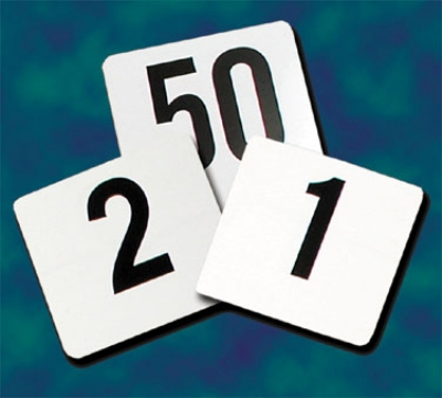"Update International PTN4/1-100 4"" Square Plastic Table Numbers - 1-100"