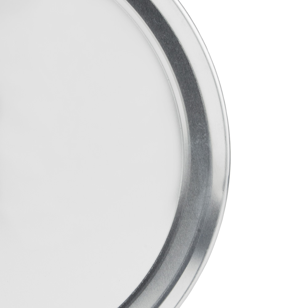 "Update PT-WR12 12"" Wide Rim Pizza Tray - Aluminum"