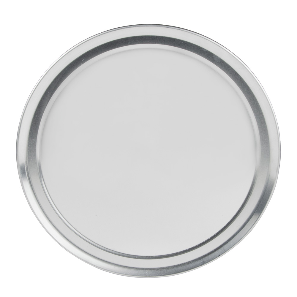 "Update PT-WR12 12"" Wide Rim Pizza Tray - Aluminum"