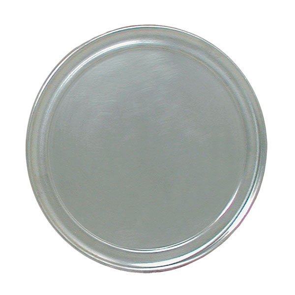 "Update PT-WR14 14"" Wide Rim Pizza Tray - Aluminum"