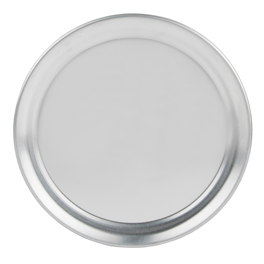 "Update International PT-WR8 8"" Wide Rim Pizza Tray - Aluminum"